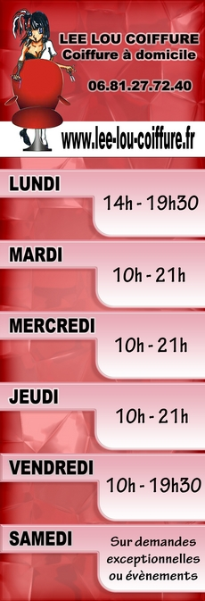Horaires Leelou coiffure montpellier